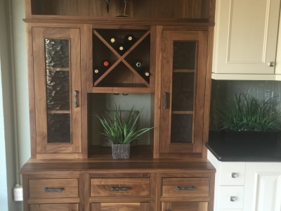 Showroom - Walnut Hutch Disply